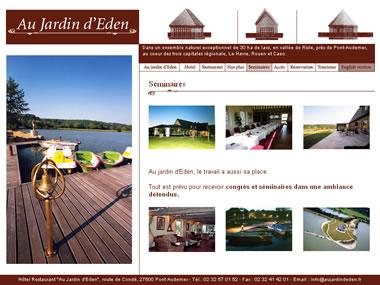 Honfleur samm agence web hotel restaurant honfleur au for Au jardin d eden evian